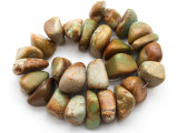 Green Turquoise Large Nugget Beads 18-37mm (TUR1328)