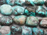 Turquoise Large Nugget Beads 10-26mm (TUR1336)