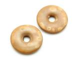 Matte Tan Donut Ceramic Earring Pair 27mm - Peru (CER166)