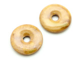 Golden Yellow Donut Ceramic Earring Pair 26mm - Peru (CER168)