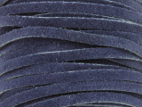 "Navy Blue Suede Leather Lace 3mm - 36"" (LR107)"