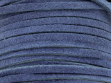 "Cobalt Blue Suede Leather Lace 3mm - 36"" (LR109)"