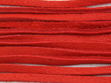 "Red Deerhide Leather Lace 3mm - 36"" (LR116)"