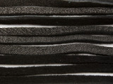 "Black Deerhide Leather Lace 3mm - 36"" (LR119)"