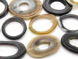 Ring Water Buffalo Horn Beads 36-57mm (HN75)