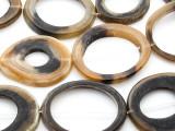 Ring Water Buffalo Horn Beads 40-70mm (HN76)