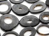 Ring Water Buffalo Horn Beads 25-52mm (HN77)
