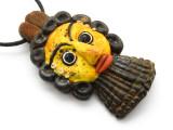 Phoenician Mask Face Pendant 85mm (CB544)