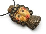 Phoenician Mask Face Pendant 76mm (CB545)