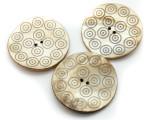 Afghan Carved Shell Button 60mm (AF712)