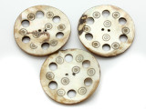 Afghan Carved Shell Button 60mm (AF713)