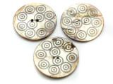 Afghan Carved Shell Button 50mm (AF714)