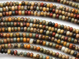 Red Creek Jasper Rondelle Gemstone Beads 4mm (GS4654)