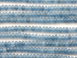 Light Blue Jade Faceted Rondelle Gemstone Beads 4mm (GS4658)
