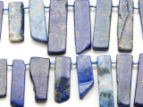 Lapis Lazuli Graduated Stick Gemstone Beads 14-28mm (GS4664)