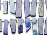 Lapis Lazuli Graduated Stick Gemstone Beads 14-28mm (GS4664)