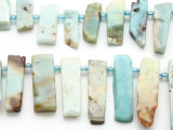 Black Gold Amazonite Graduated Stick Gemstone Beads 14-40mm (GS4665)