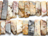 Crazy Lace Agate Graduated Stick Gemstone Beads 18-42mm (GS4668)