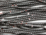 Gunmetal Gray Electroplated Hematite Round Gemstone Beads 3mm (GS4671)