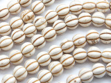 Natural Howlite Fluted Round Gemstone Beads 10mm (GS4683)