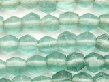 Coke Bottle Bicone Recycled Glass Beads 10-12mm - Indonesia (RG638)