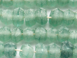 Coke Bottle Faceted Bicone Recycled Glass Beads 11-13mm - Indonesia (RG670)