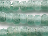 Coke Bottle Rondelle Recycled Glass Beads 11-14mm - Indonesia (RG671)