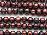 Maroon Potato Pearl Beads 8-10mm (PRL208)