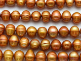 Orange Potato Pearl Beads 9-11mm (PRL212)