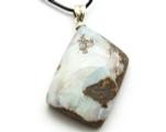 Boulder Opal Pendant w/Sterling Silver Bail 36mm (BOP343)