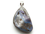 Boulder Opal Pendant w/Sterling Silver Bail 34mm (BOP346)