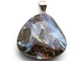 Boulder Opal Pendant w/Sterling Silver Bail 28mm (BOP348)
