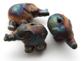 Elephant Raku Ceramic Bead 31mm - Peru (CER174)