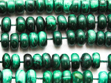 Malachite Rondelle Gemstone Beads 10mm (GS4716)