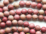 Rhodonite Round Gemstone Beads 8-9mm (GS4723)