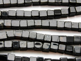 Black Onyx Cube Gemstone Beads 6-8mm (GS4727)