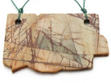 Red Creek Jasper Gemstone Slab Pendant (GSP2319)
