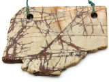 Red Creek Jasper Gemstone Slab Pendant (GSP2321)