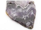 Amethyst Gemstone Slab Pendant (GSP2341)