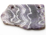 Amethyst Gemstone Slab Pendant (GSP2348)