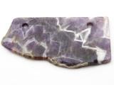 Amethyst Gemstone Slab Pendant (GSP2361)