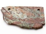 Australian Green Opal Gemstone Slab Pendant (GSP2373)