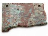 Australian Green Opal Gemstone Slab Pendant (GSP2375)