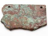 Australian Green Opal Gemstone Slab Pendant (GSP2376)