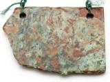 Australian Green Opal Gemstone Slab Pendant (GSP2378)