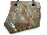 Australian Green Opal Gemstone Slab Pendant (GSP2380)
