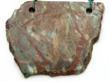 Australian Green Opal Gemstone Slab Pendant (GSP2381)