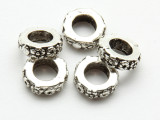 Pewter Bead - Floral Ring 10mm (PB851)