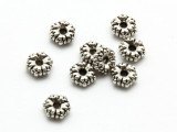 Pewter Bead - Flower Spacer 6mm (PB852)