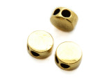 Brass Pewter Bead - 2-Strand Spacer 9mm (PB855)